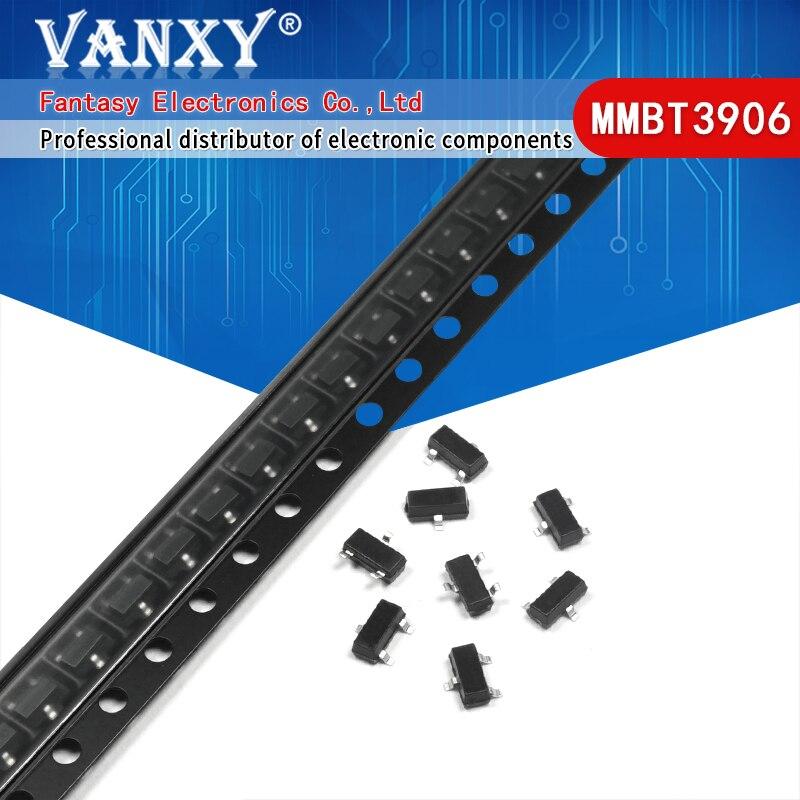100 шт. MMBT3906 2A 3906 MMBT3906LT1G 2N3906 200mA 40V SOT-23 PNP SMD Triod транзистор новый и оригинальный