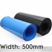 Envoltura de batería Lipo, Tubo termorretráctil de PVC, funda de protección, paquete plano, azul y negro, ancho de 500mm (diámetro de 318mm)