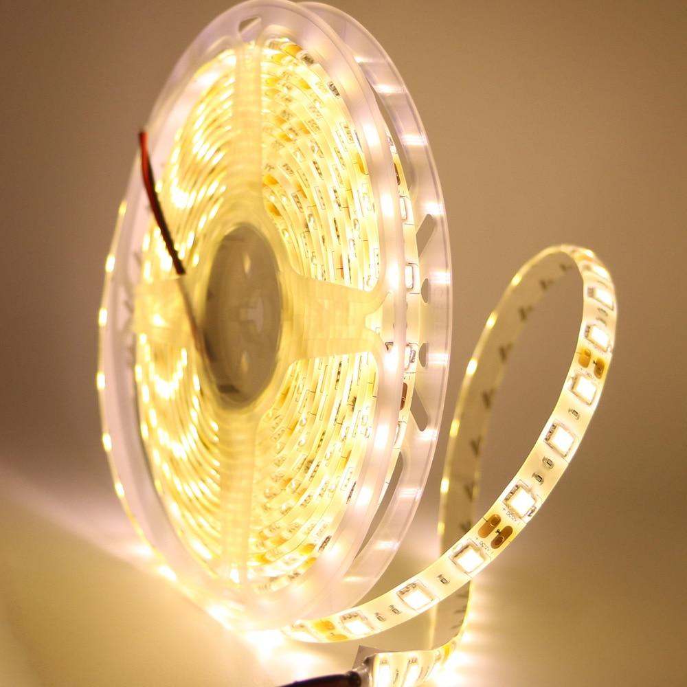 Waterproof DC12V 5050 SMD RGB RGBW WW LED Strip Light Flexible Strip Light 60Leds/m Led Tape Home Decor Lamp Car Lamp Decoration