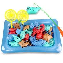 Juguetes de pesca magnéticos para niños, varillas de simulación pesca de agua