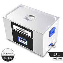 Dual Frequency 45L Ultrasonic Cleaning Machine Time Heating