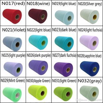"44 Colors Matt Mesh Tulle Roll Spool 6""x100yd (6""x300"") Tutu Party Bow For Wedding Decoration Supplies bridal shower garland"