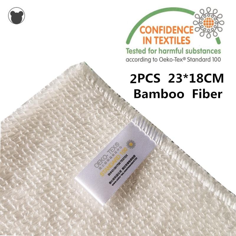2 шт., утолщенная Чистящая салфетка из бамбукового волокна