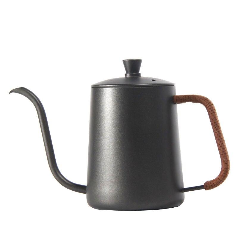 Drip Kettle 350ml 600ml Coffee Tea Pot Teflon Non-Stick Food Grade Stainless Steel Gooseneck Drip Kettle Swan Neck Thin Mouth