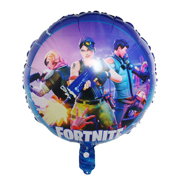 3pcs Fortnite Game Foil Balloon 18 Inch fortress night Esports Carnival Game Party Decoration Balloon reusable Kid Birthday Gift 2