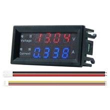 4 цифры Высокая Точность DC 100V 200V 10A Вольтметр Амперметр Двойной светодиодный цифровой Дисплей Amp Вольт Merter Панель датчик