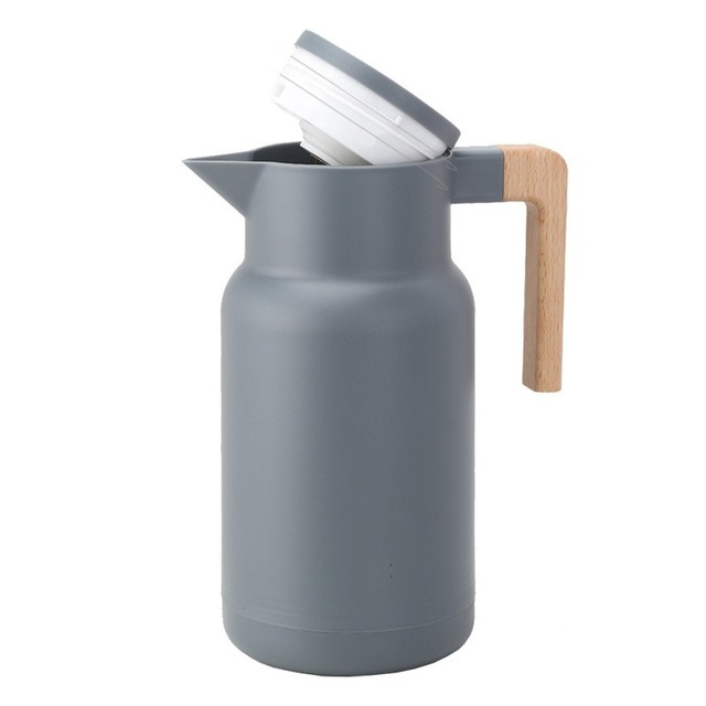 Glass Vacuum Flasks Insulation Thermos 1L Large Household Hot Water Pot Kettle Office Coffee Thermal Warmer Bottles Double Wall 2