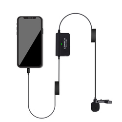 COMICA CVM-SIG.LAV V05 MI Multi-functional Single Lavalier Microphone for iPhone XS max X 8 7 Plus iPad with Lightning Interface