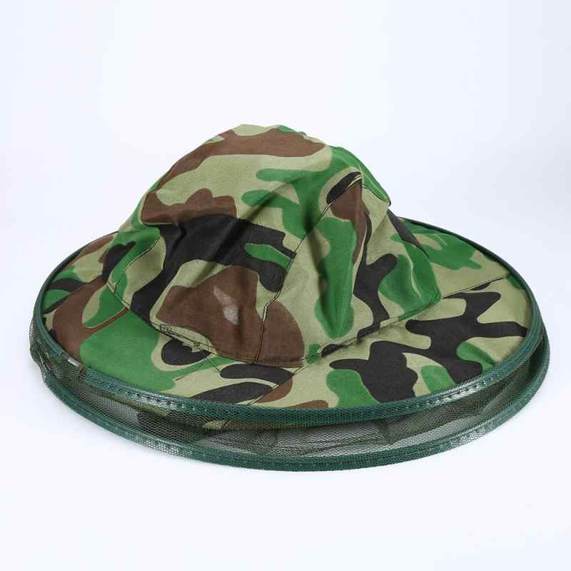 Camouflage Cloth Beekeeping Hat Anti-Bee Anti-Mosquito Veil Face Head Protector