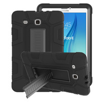 For Samsung Galaxy Tab E 9.6 SM T560 T561 Rugged Hybrid Armor Case Shock Absorption Silicone+PC Cover With Kickstand+Film+Pen Tablets & e-Books Case     -