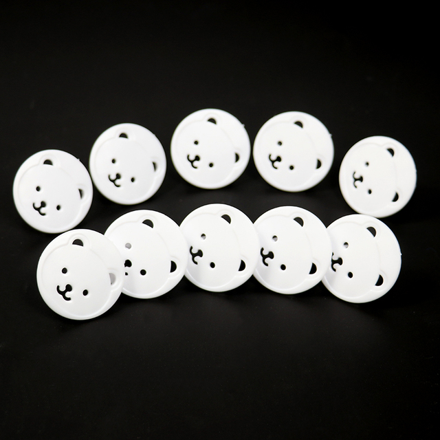10pcs Baby Safety Child Electric Socket Outlet Plug Protection Security Two Phase Safe Lock Cover Kids Sockets Cover Plugs 5