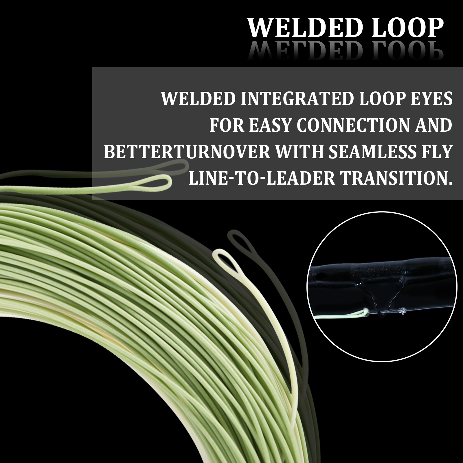 Aventik Weight Forward Sinking Fly Line With Exposed Loop Fly Fishing line 4-5ip