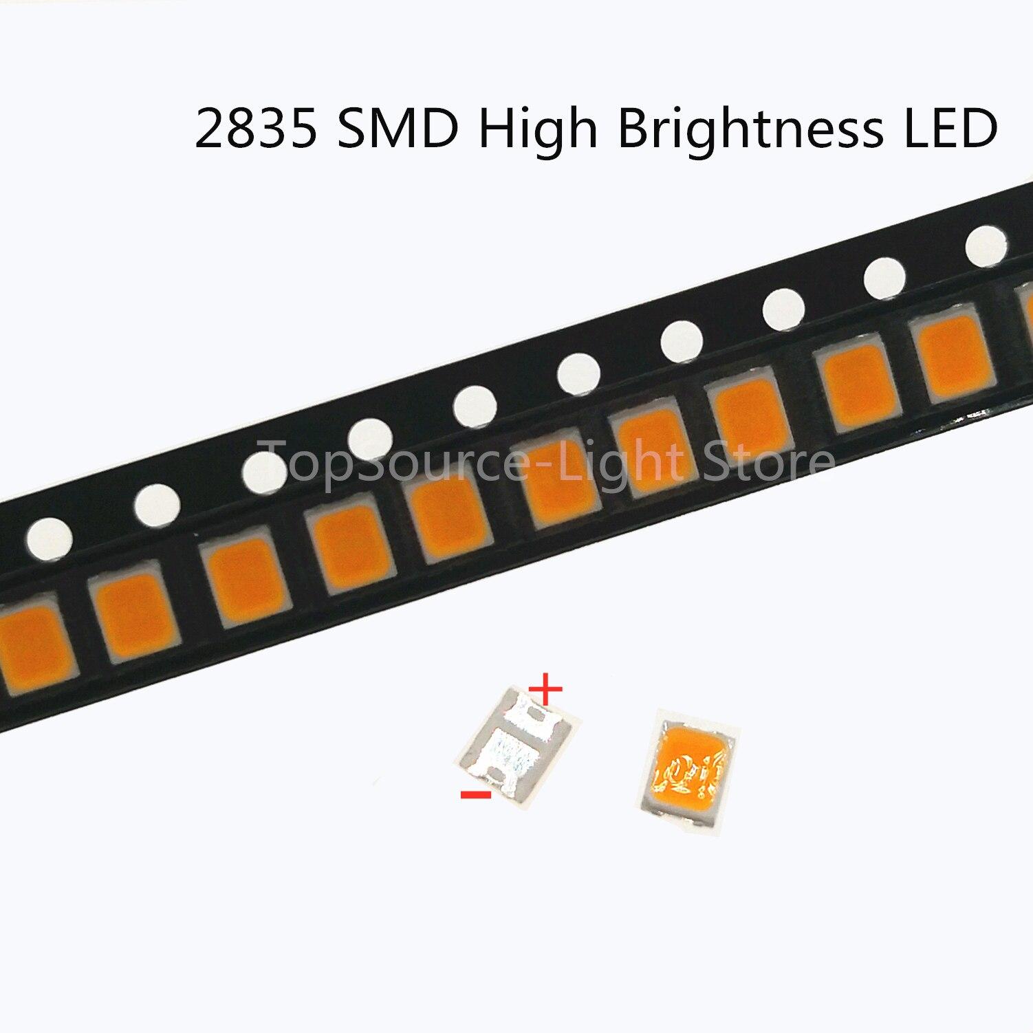 50PCS Original For LEXTAR 2835 3528 1210 6V SMD LED For Repair TV Backlight Cold White LCD Backlight LED