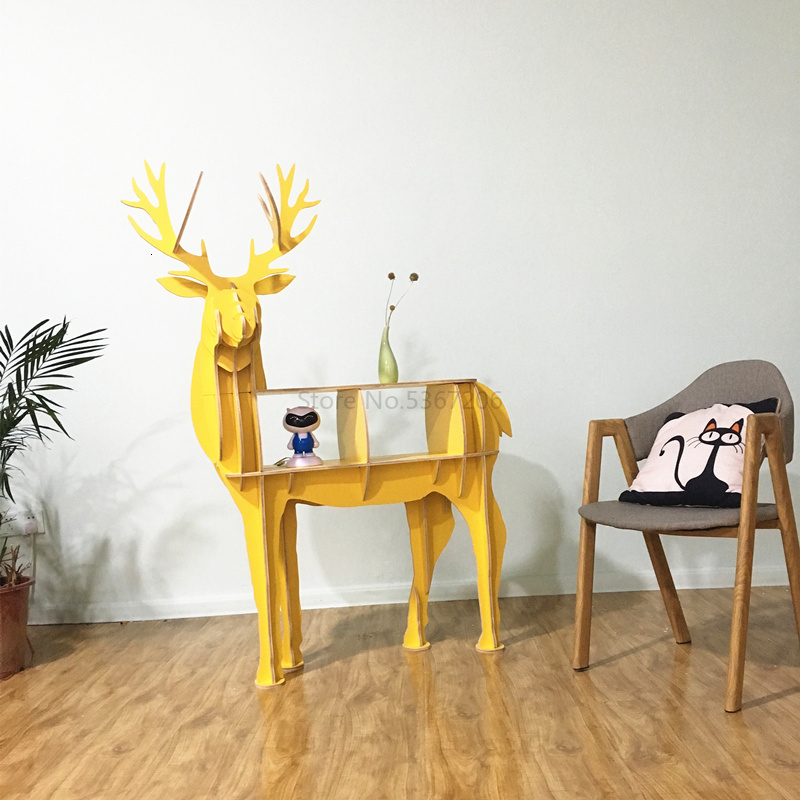 Deer Bookshelf Elk Home Decor Wedding