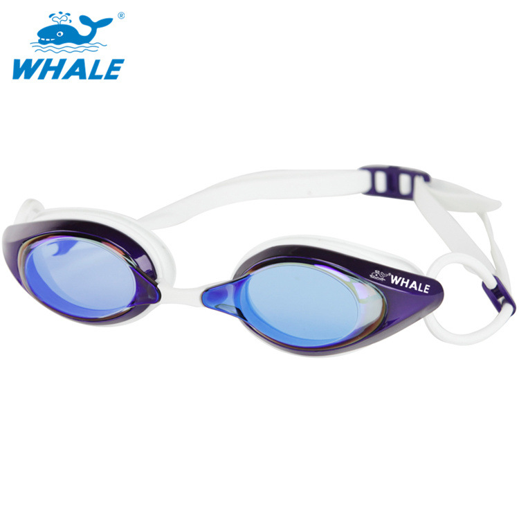 Customizable Whale Goggles Electroplated High-definition Anti-fog Swimming Glasses Profession Adult Competition Silica Gel Race