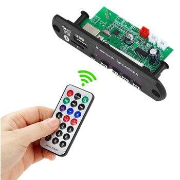 10pcs/lot MP3 Player Bluetooth5.0 MP3 Decoding Board Module Car TF Card Slot USB FM Remote Decoding Board Module 2*15W amplifier 1