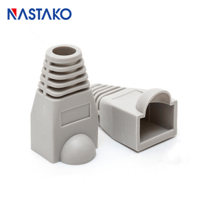 Image 5 - NASTAKO Cat5 Cat5e Cat6 RJ45 מחבר כובע כיסוי אתחול RJ45 Ethernet כבל רשת תקע מודולרי מגפי 6.0mm צבעוני