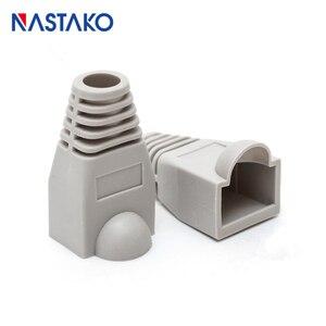 Image 5 - NASTAKO Cat5 Cat5e Cat6 RJ45 connecteur couvercle botte RJ45 Ethernet câble connecteur réseau modulaire Plug bottes 6.0mm coloré