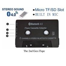 Новейший беспроводной iTape CSR Bluetooth V4.0+ EDR стерео аудио кассетный плеер приемник адаптер может работать во время зарядки для автомобильной палубы