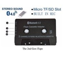 ITape adaptador receptor de Cassette de Audio estéreo CSR Bluetooth V4.0 + EDR, inalámbrico, puede funcionar mientras se carga para cubierta de coche