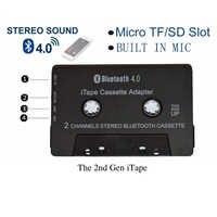 Najnowszy bezprzewodowy odtwarzacz kasetowy iTape CSR Bluetooth V4.0 + EDR Stereo Audio adapter do odbiornika może pracować podczas ładowania na pokładzie samochodowym