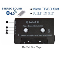 Newest Wireless iTape CSR Bluetooth V4.0+EDR Stereo Audio Cassette Player Receiver Adapter can work while charging for Car Deck