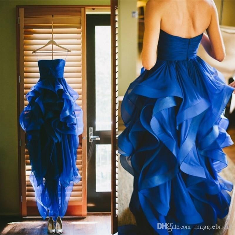 Vestido De Noiva 2018 New Limited Natural Elegant Royal Blue Evening Prom Gown Custom Party Gown