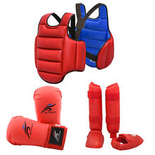 Karate chest guard gloves helmet boxing mma shin body protector