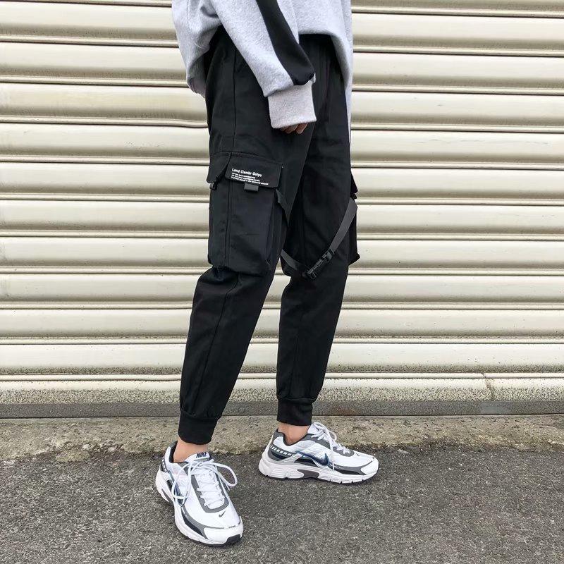 Pantalon cargo pour hommes 2020, pantalon hip-hop streetwear décontracté de style Harajuku avec multi-poches
