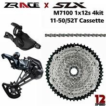 Slx M7100 、SL M7100 R + RD M7100 SGS + zraceカセット + zraceチェーン 1x12 speed、 4kitグループセット