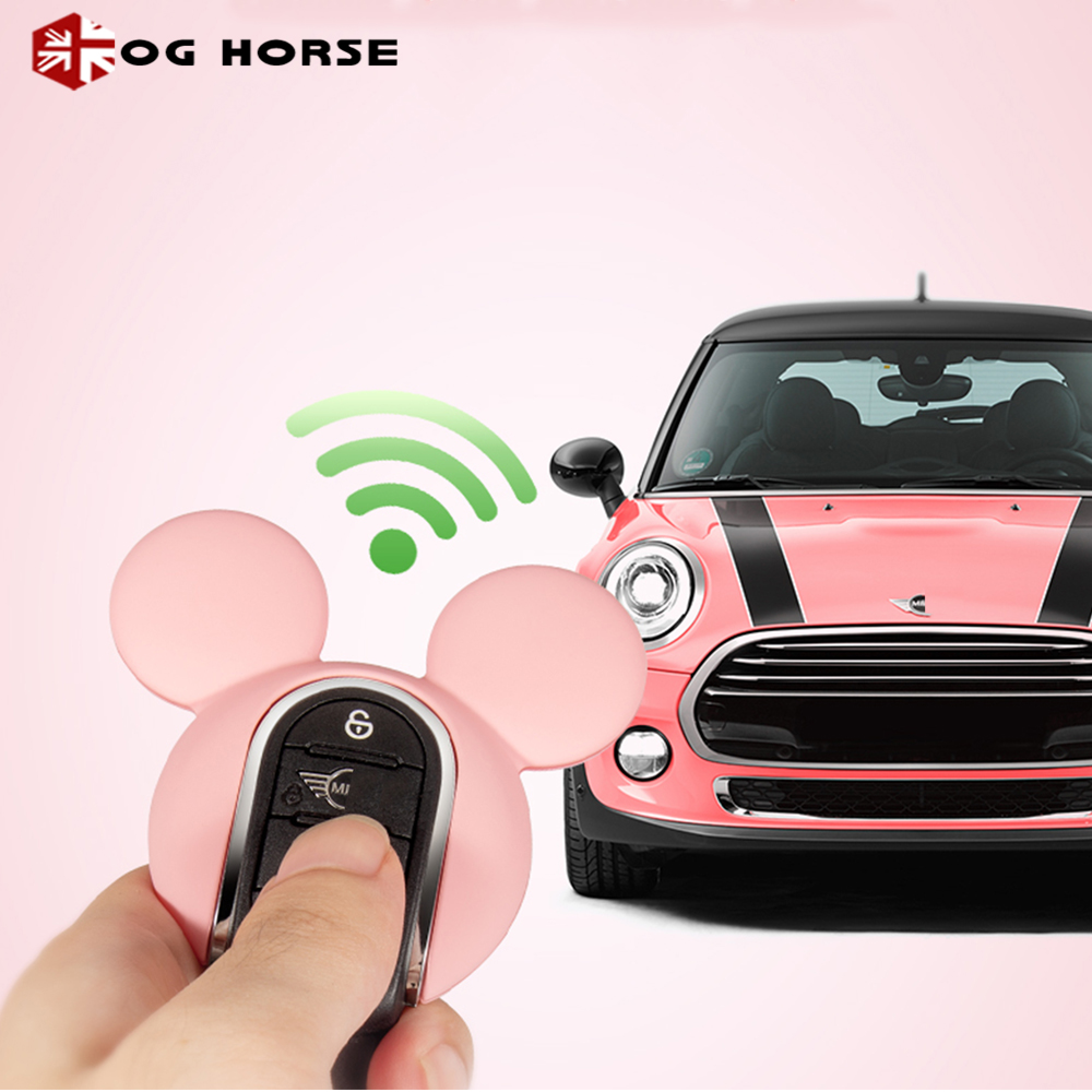 Car Keychain Decoration Fashion Women Key Case Cover Hello Kitty Miky Styling Accessories For MINI Cooper S F54 F55 F56 F57 F60(China)