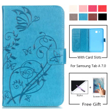 High Quality Pu Leather Case For Samsung Galaxy Tab A a6 7.0 T280 T285 SM-T280 SM-T285 Cover Case Flip Stand Protective Shell case for samsung galaxy tab a a6 7 0 inch 2016 sm t280 t285 7 0cover tablet cover slim stand leather protective case back shell
