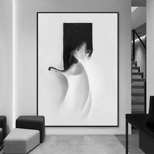 Oil-Painting Porch-Light Living-Room Black Nordic Modern Sofa Backdrop-P Dance White