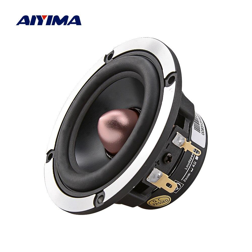 Aiyima 3 Polegada alto-falante de som de alta fidelidade midrange carro dsp áudio diy alto-falante 4 8 ohm 20 w 30 w 25 núcleo música altifalante para o sistema de som