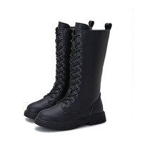 Snow boots 2019 winter new girls cotton shoes leather children Martin boots Korean fashion casual boy knight boots