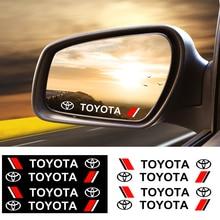 4PCS รถด้านหลังดูกระจกสติกเกอร์รูปลอกประตูสติกเกอร์รถยนต์สำหรับ Toyota Prius Avensis Rav4 Auris Yaris verso Land C