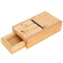 Woden urządzenie do cięcia mydła regulowane mydło bambusowe urządzenie do cięcia mydła strugarka narzędzia ręczne robienie mydła dostawy z zestawem szuflad dozownik do mydła tanie tanio