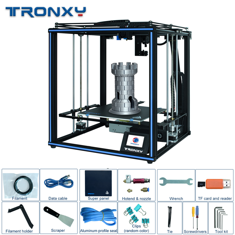 Tronxy Linear Guide Rail 24V X5SA Pro OSG Double Axis External Guide Rail 3D Printer FDM Machine Auto level Filament Sensor New
