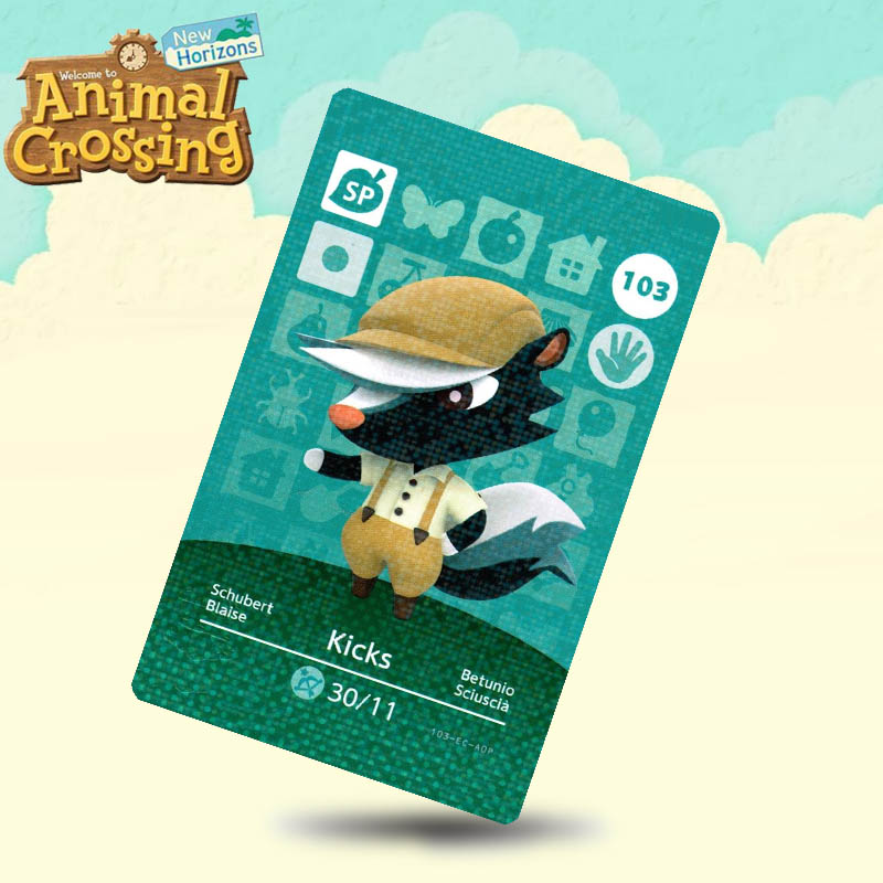 103 Kicks (ACHHD) Animal Crossing Card Amiibo Cards Work For Switch NS 3DS Games