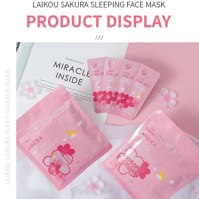 15Pcs Sleeping Mask Hydrating Moisturizing No-Wash Sakura Face Masks Acne Removal Skin Care Soothing Face Korean Mask 2
