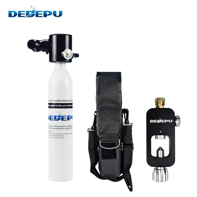 Фото мини баллон для подводного плавания dedepu 05l кислородный оборудование