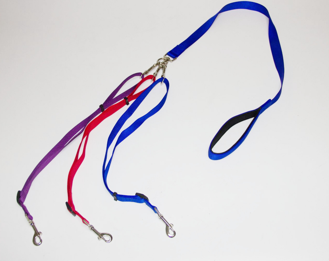 Flat Rope 1 Torr 3 Anti-Winding 3 Led Dog Rope Supporting Two Dog Traction Set
