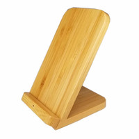 Qi Wireless Charger Induction Charging Docking Station Chargeur Bamboo Wood Charger Station For Iphone Xiaomi mi 9T Huawei P30|Mobile Phone Chargers| |  -