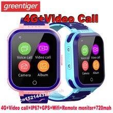 T3 4G Smart Horloge Kids Sos Gps Wifi Kids Smartwatch IP67 Waterdichte Baby Klok Tijd Remote Monitor Video Call kinderen Horloge