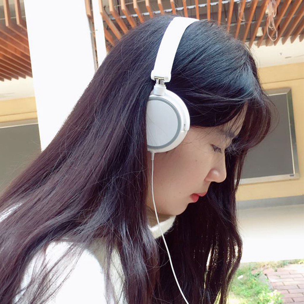 On-ear Wired Foldable Bass Headphone with Microphone 3.5mm Interface Earphone for Smartphones Desktop Computer Laptop PC Headset