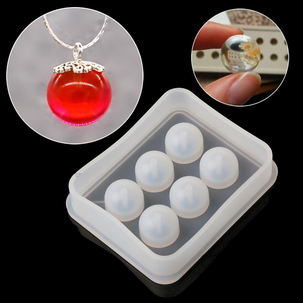 Bobury DIY Bola de Cristal esf/érica Cuadrado de Silicona Colgante de Bolas Molde de Joyas Haciendo Molde