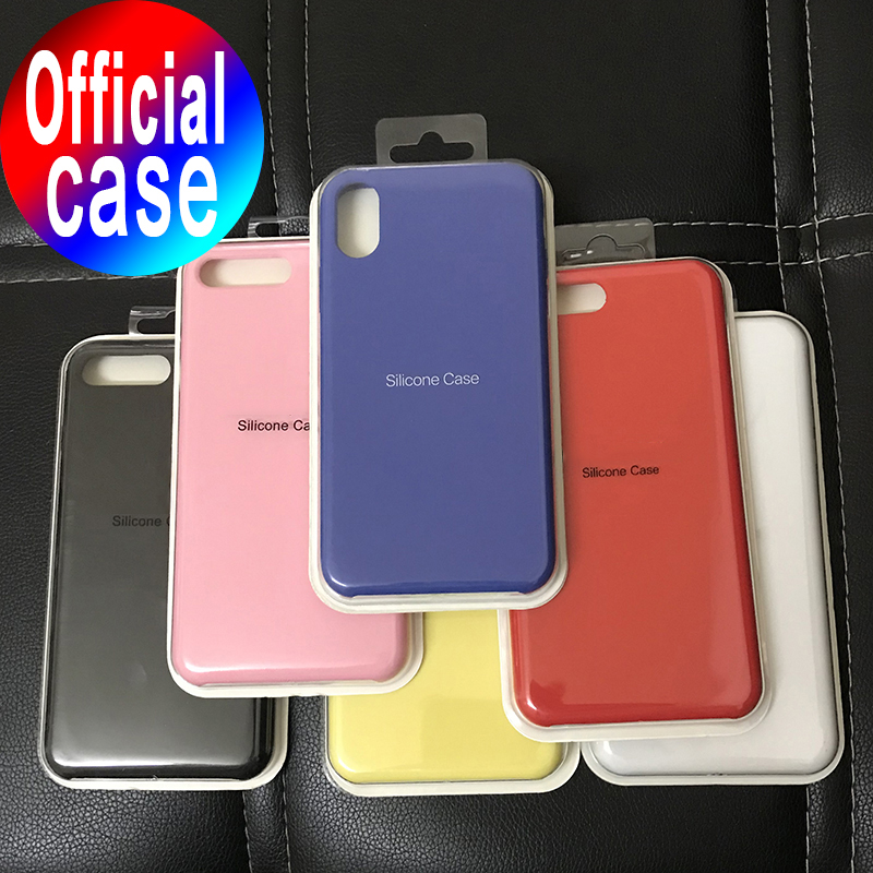 Original Official Silicone Case For IPhone 7 8 Plus Back Cover For Apple IPhone X XS Max XR 11 Pro 6 6S PLUS Case Phone Cover