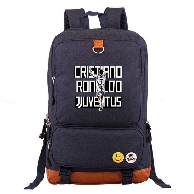 Men Teenagers Cristiano Ronaldo CR7 Backpack  Student School Travel Bag Laptop Bag Football Fans Gifts camisa do flamengo nova 2019 bs2