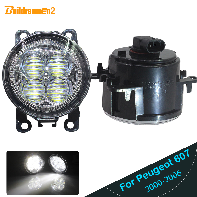 Buildreamen2 Car 4000LM H11 LED Bulb Fog Light Angel Eye DRL 12V For <font><b>Peugeot</b></font> <font><b>607</b></font> (9D, 9U) Saloon 2000 2001 2002 2003 <font><b>2004</b></font> 2006 image