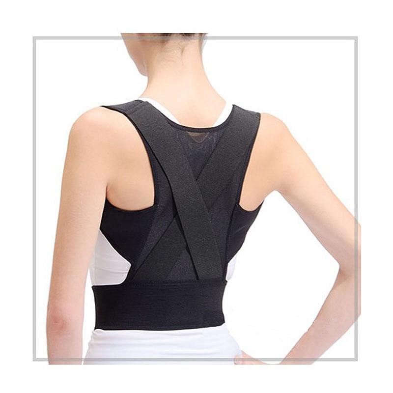 Male Female Adjustable Back Support Belt Corset Back Brace Back Belt Lumbar Support Straight Corrector Fitness Gear
